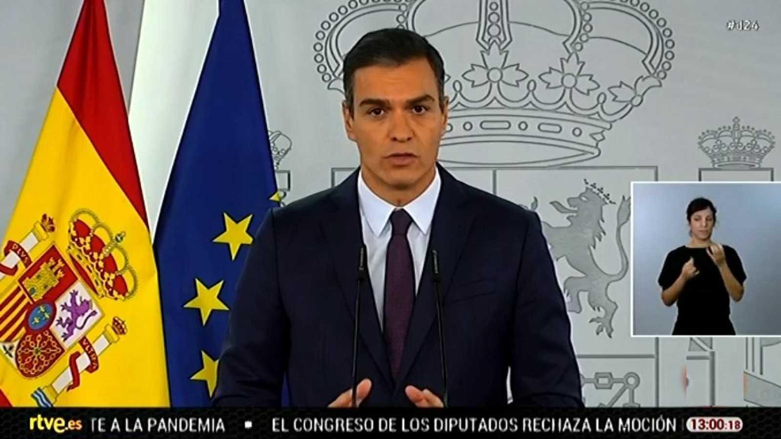 Especial informativo - Comparecencia del presidente del gobierno, Pedro Sánchez - 23/10/20 - ver ahora