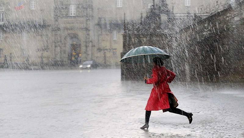 Lluvia fuerte al oeste de Galicia y ascenso térmico casi generalizado