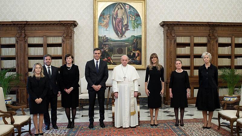 El papa recibe por primera vez a Pedro Sánchez en el Vaticano
