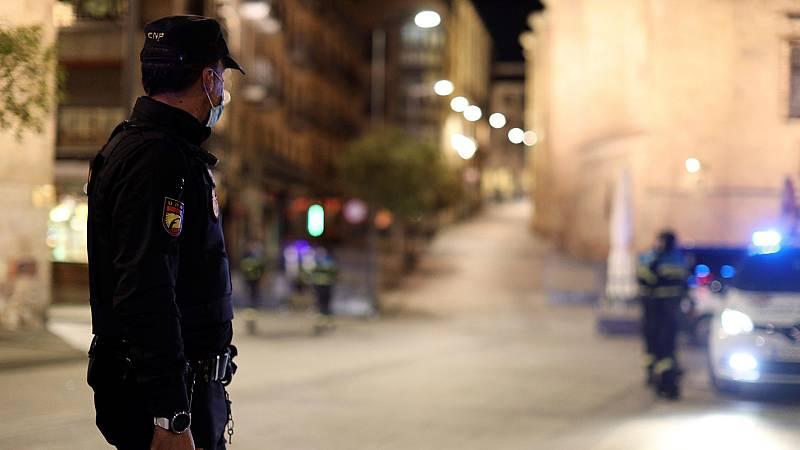 Primera noche de toque de queda en Comunidad Valenciana y Castilla y León