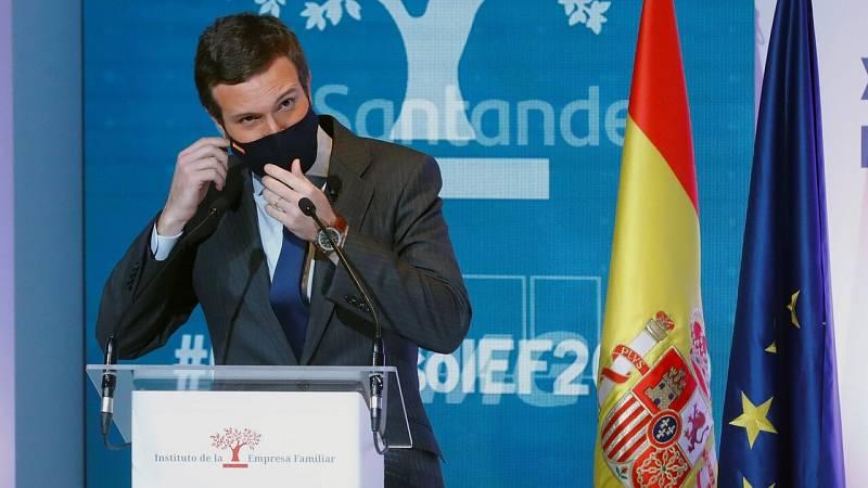 Casado plantea a Sánchez limitar la alarma a ocho semanas y aprobar un marco legal