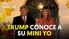 Trump conoce a su 'mini yo' en la Casa Blanca
