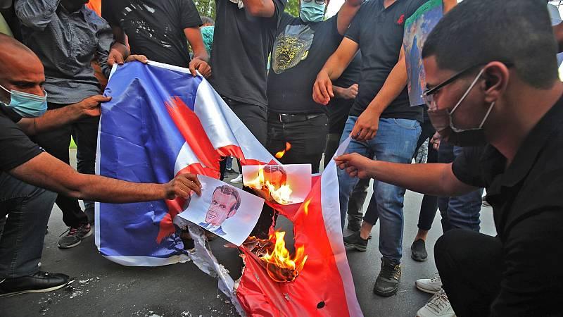 Protestas en países musulmanes contra Macron por su defensa de las caricaturas de Mahoma