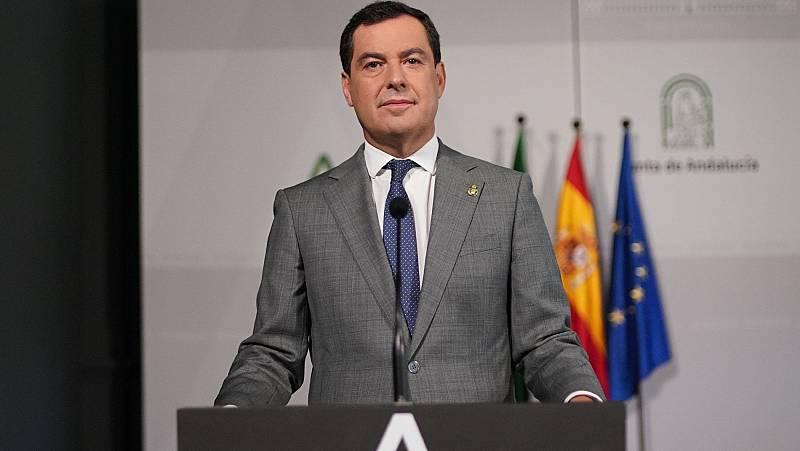 Moreno cree que los datos de contagios y hospitalizaciones abocan a un cierre perimetral de Andalucía