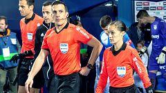 Guadalupe Porras, primera española asistente en un partido de Europa League