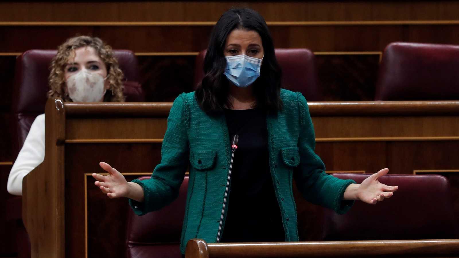 Arrimadas critica un estado de alarma sin control parlamentario
