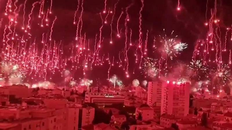 Explosiva celebración de los 70 años de 'La Torcida' en Split