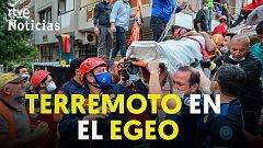 Un fuerte terremoto en el Egeo sacude Turquía y Grecia y deja más de una decena de muertos