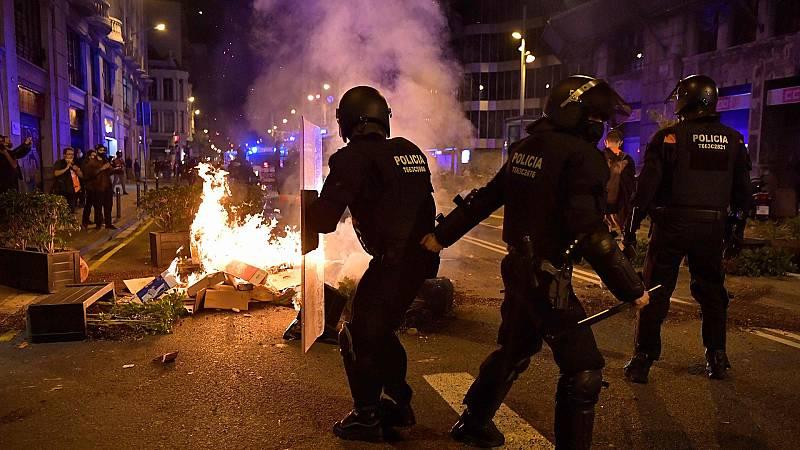 Incidentes en varias ciudades españolas en protestas anti-COVID