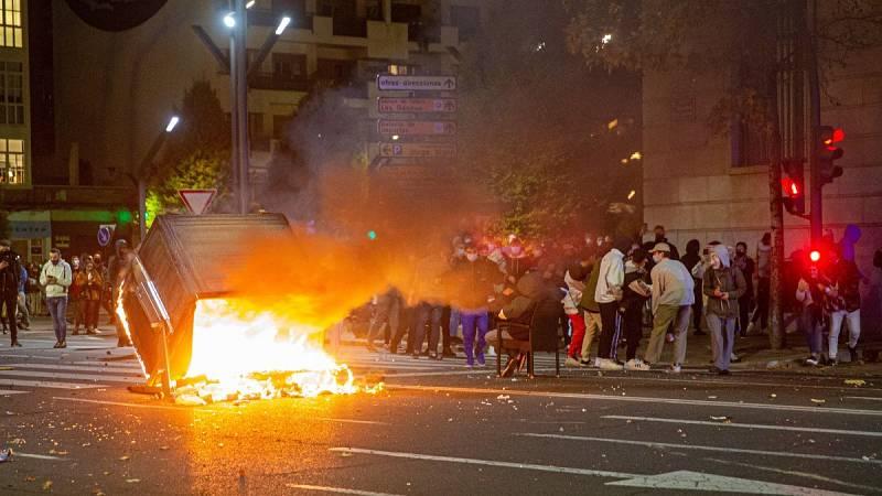 La Policía investiga los violentos altercados en varias ciudades españolas contra las restricciones por la COVID