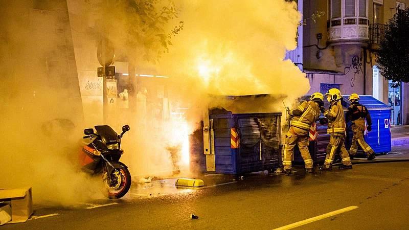 Al menos cuatro detenidos en la tercera noche de disturbios en Logroño y León contra las restricciones por el coronavirus