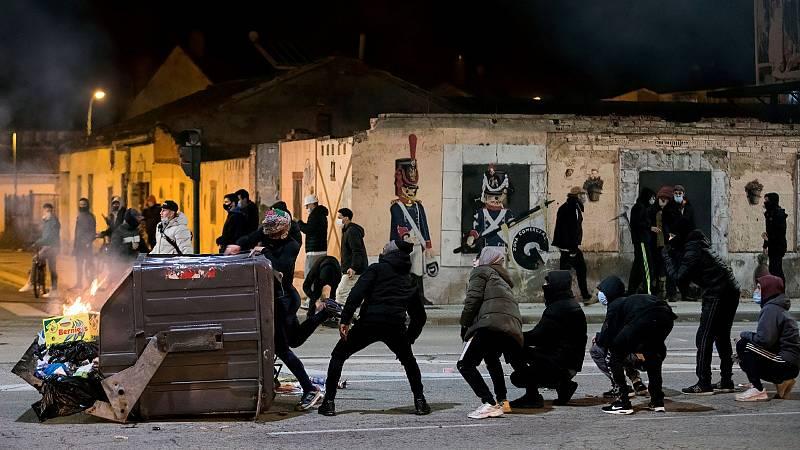 Disturbios en León y Logroño contra las restricciones por el coronavirus