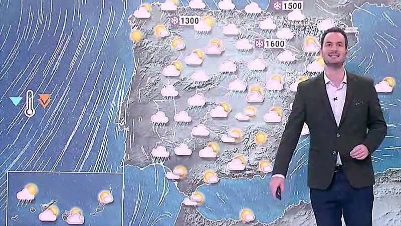Temperaturas en descenso y lluvias en el centro peninsular y en Cataluña