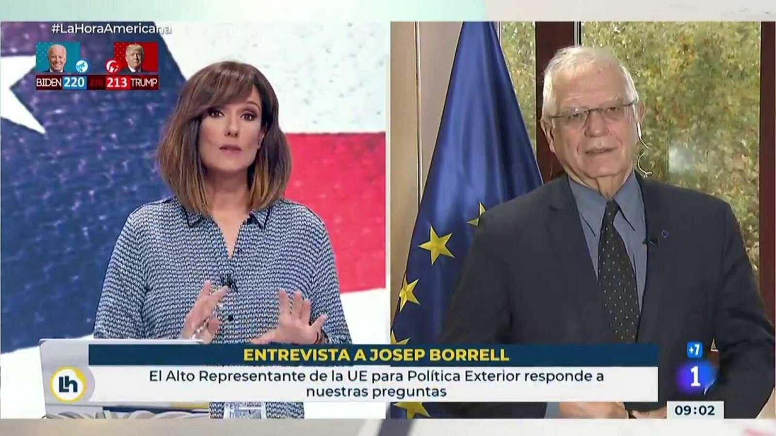 """Josep Borrell se muestra prudente con el resultado en Estados Unidos: """"Hay que contar hasta el último voto"""""""