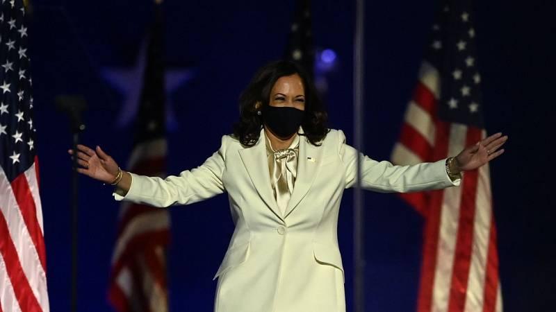 """Kamala Harris: """"Soy la primera vicepresidenta de EE.UU., pero no seré la última"""""""