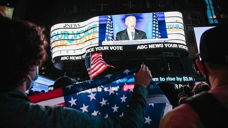 Wlimington celebra la victoria de Joe Biden, su hijo predilecto