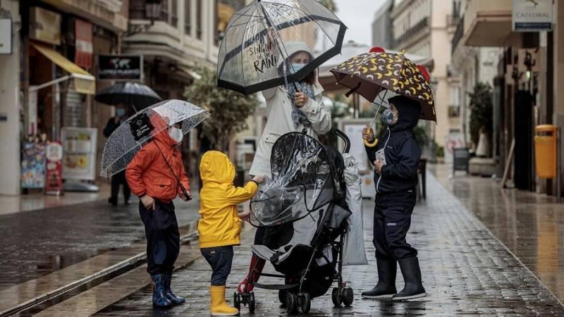 Este lunes, lluvia en amplias zonas del país, más intensas en Galicia y Andalucía
