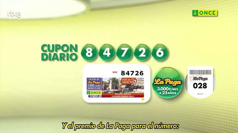 Sorteo ONCE - 09/11/20 - ver ahora