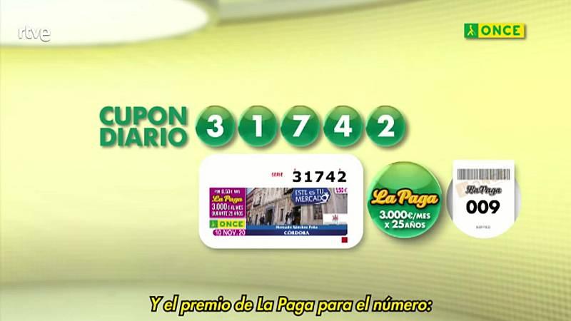 Sorteo ONCE - 10/11/20 - ver ahora