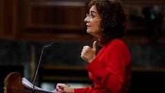 """Montero apela a la """"responsabilidad"""" de PP y Vox en la tramitación de los presupuestos"""