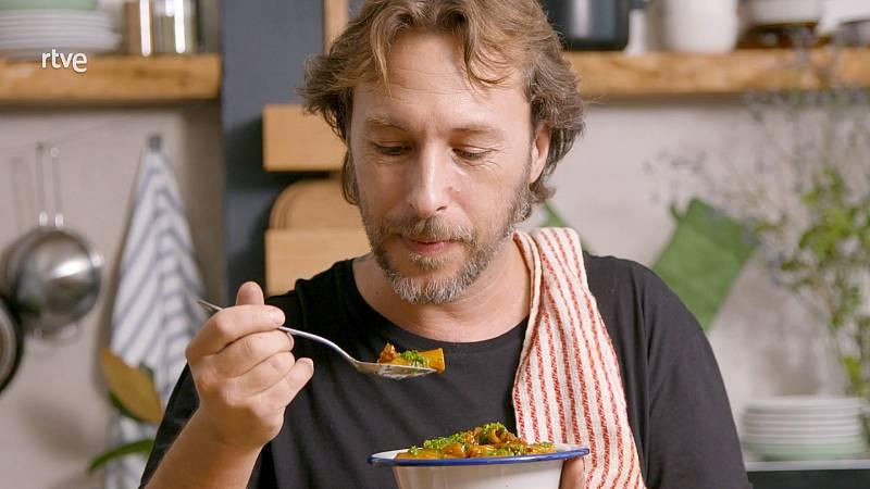 macarras con chorizo de Gipsy Chef