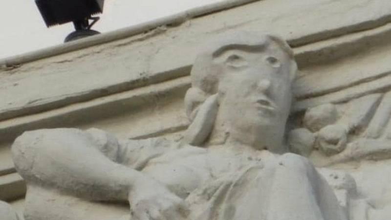 Polémica por la restauración de una escultura en Palencia, a la que ya se compara con el 'Ecce Homo' de Borja