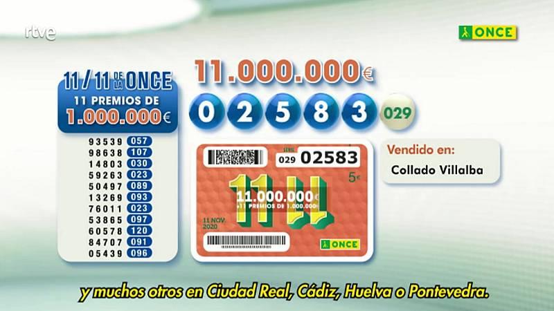 Sorteo ONCE - 11/11/20 - ver ahora