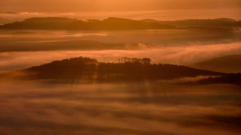 Nieblas extensas en valle del Ebro y en interior del sureste del país