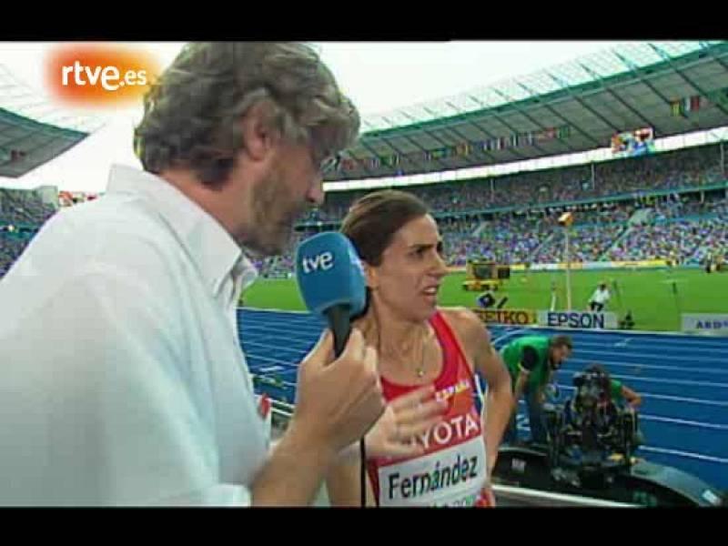 """Primeras declaraciones de Nuria Fernández. Para Nuria, la única campeona del mundo es Natalia Rodríguez, """"empujar, empujan todas""""."""