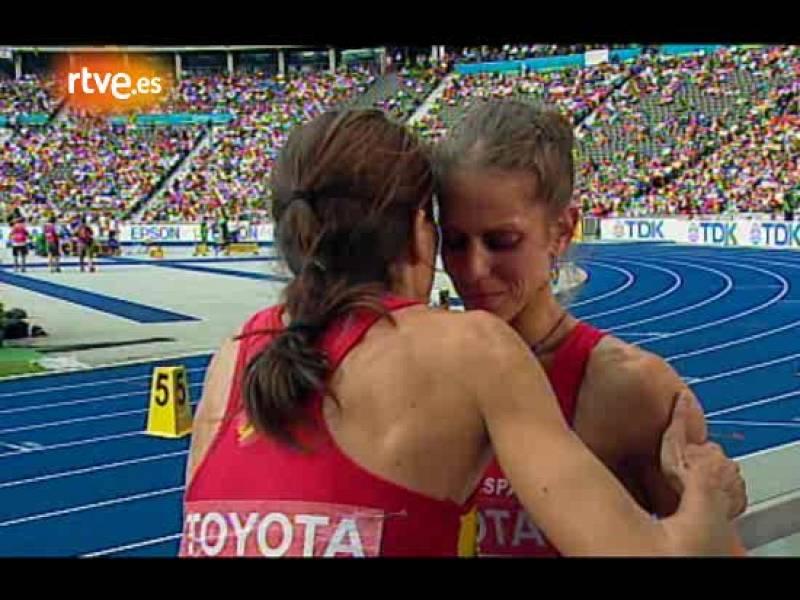 Primeras palabras de Natalia Rodríguez después de cruzar la meta. La atleta española era cauta antes de conocer la decisión de los jueces.