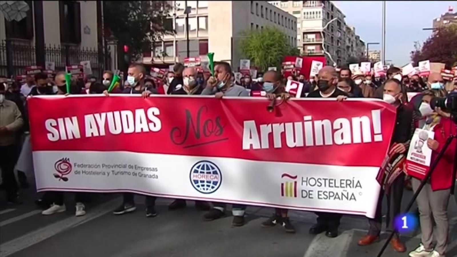 Los profesionales de la hostelería de Andalucía toman las calles
