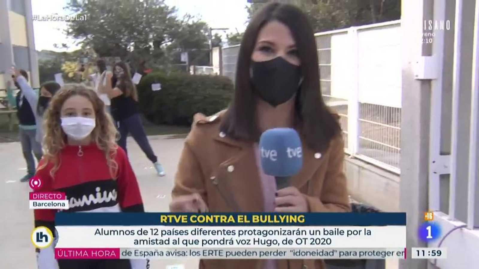 La Hora de La 1 en directo en la campaña antibullying