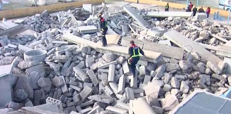 Los servicios de emergencias de la Comunidad de Madrid realizan un simulacro de un terremoto de gran magnitud