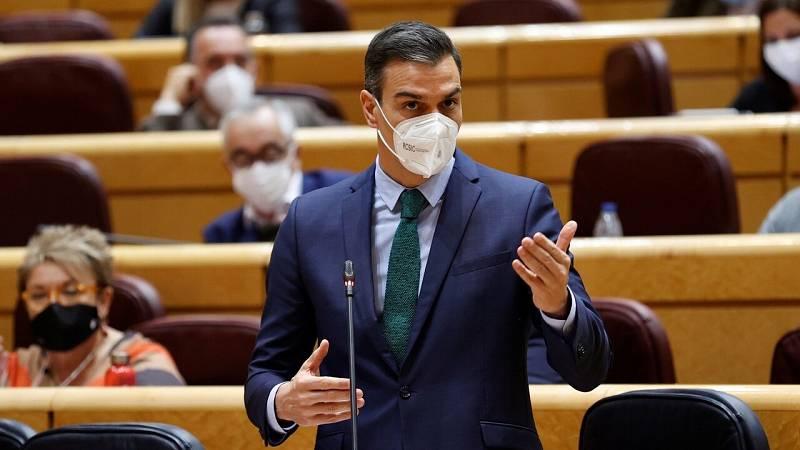 """Sánchez insiste en que sus presupuestos son """"indispensables"""" y obvia las críticas del PP al apoyo de Bildu a las cuentas"""