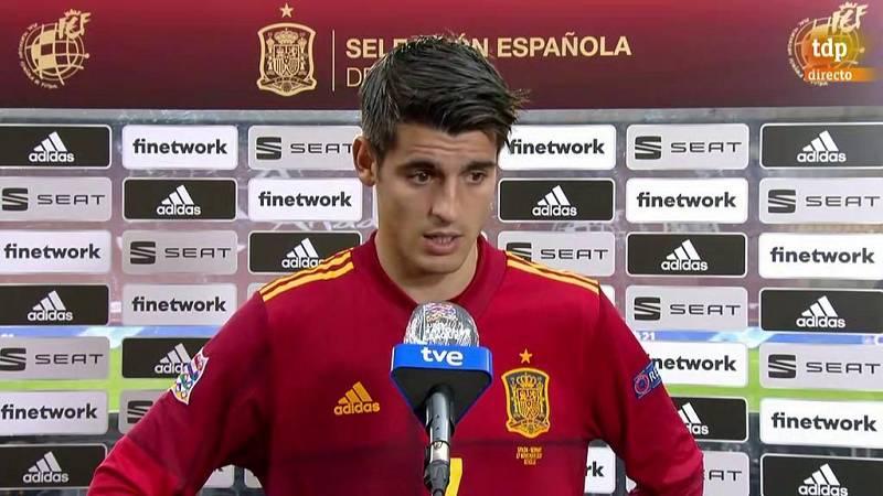 """Morata: """"Hoy no nos pueden poner ningún pero"""""""