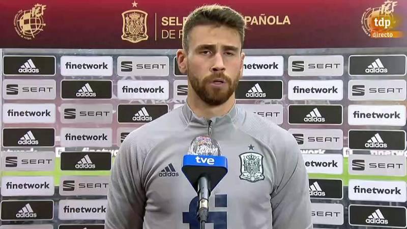 """Unai Simon: """"No me esperaba ser titular en los tres partidos"""""""