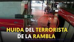 Así huyó el conductor de la furgoneta del atentado de Las Ramblas