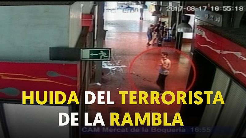 Así huyó el autor material del atentado de Las Ramblas