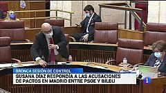 El portavoz de VOX abandonaba el pleno del Parlamento de Andalucía