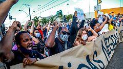 Protestas en Brasil tras la muerte de un hombre negro a manos de dos guardias de seguridad blancos