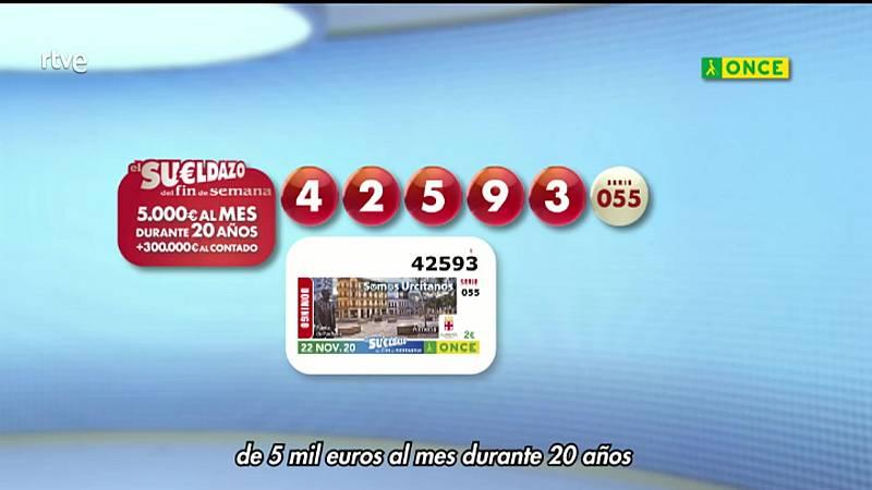 Sorteo ONCE - 22/11/20 - ver ahora