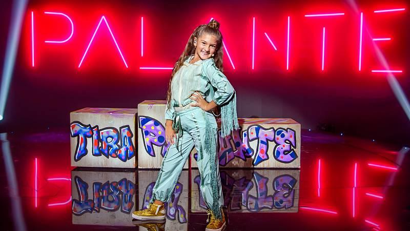 Ensayo de Soleá sobre el escenario de Eurovisión Junior