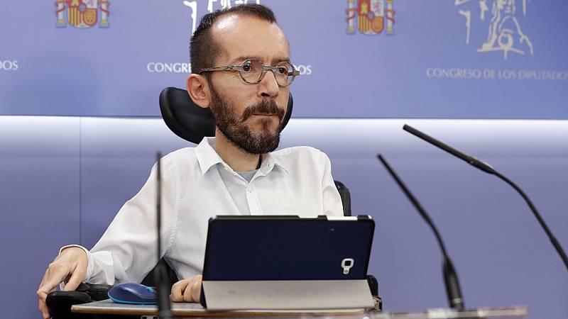 """Echenique resta importancia a la rectificación de Sánchez sobre los fondos y celebra su decisión: """"Es lo más sensato"""""""