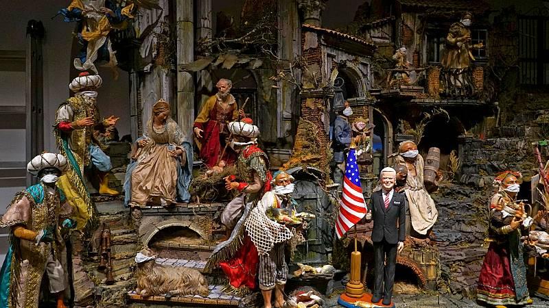 Los belenes navideños de Nápoles, sin visitantes por la COVID-19