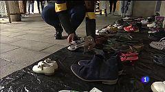 Os zapatos convértense en símbolo das vidas perdidas pola violencia machista