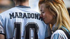 Los aficionados argentinos recuerdan a Maradona
