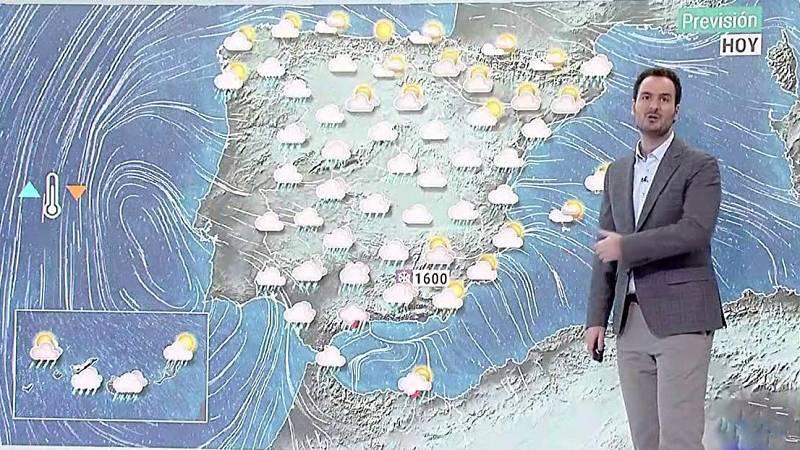 Precipitaciones en amplias zonas y descenso térmico en el sur