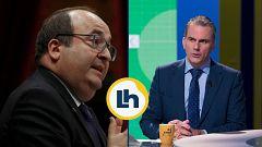 Cruce de declaraciones en La Hora de La 1 entre Ortega Smith e Iceta por el supuesto independentismo del PSC y los bailes del socialista