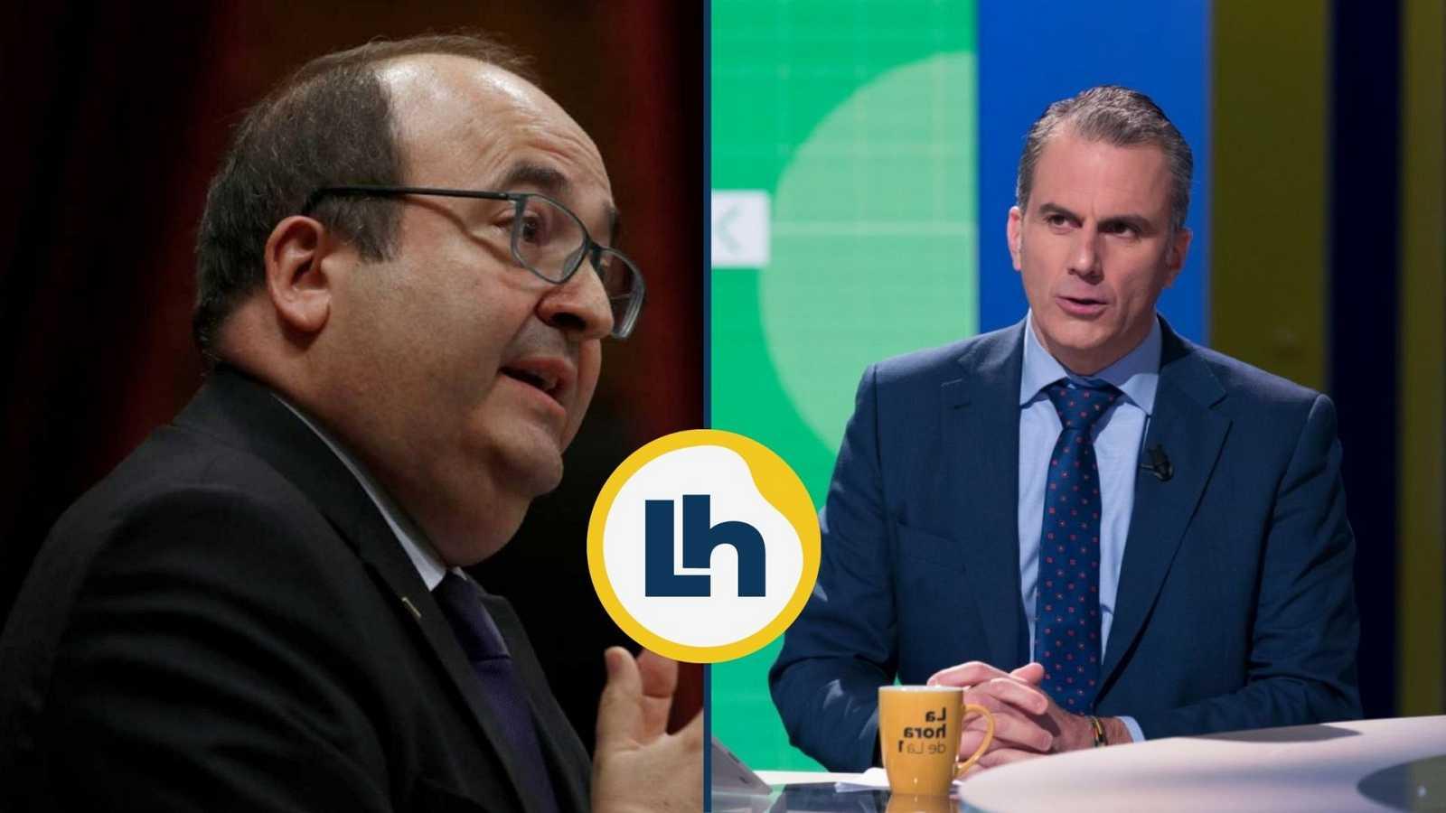 Cruce de declaraciones entre Ortega Smith e Iceta por el supuesto independentismo del PSC y los bailes del socialista