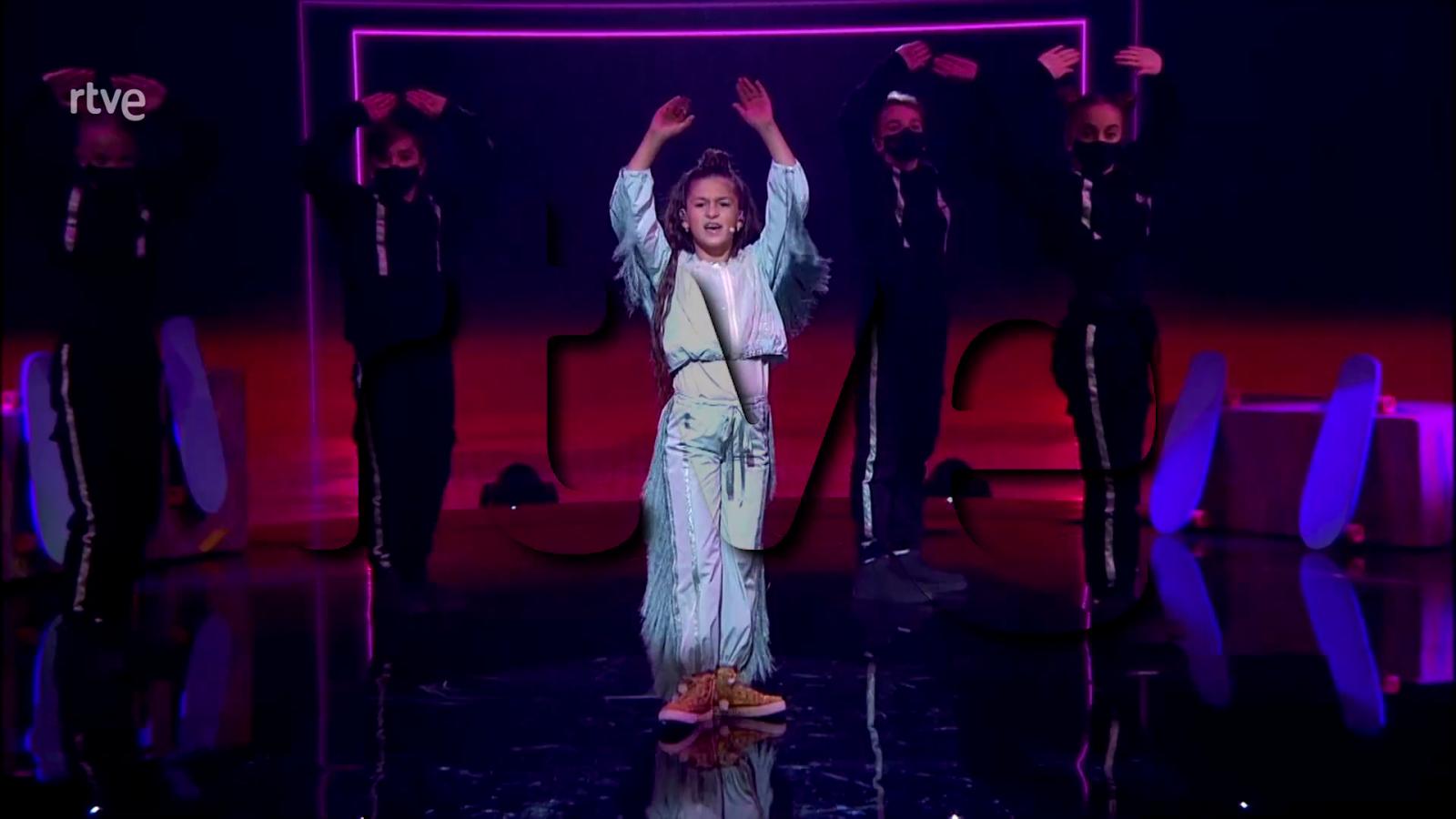 "Eurovision Junior 2020 - Soleá canta ""Palante"" (Avance de la actuación realizada)"
